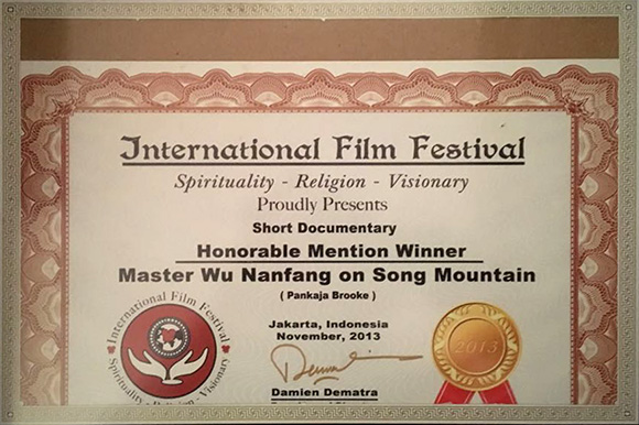 International Film Award for MWNF on Song Mountain