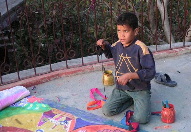 Painting-at-Ramanas-Garden