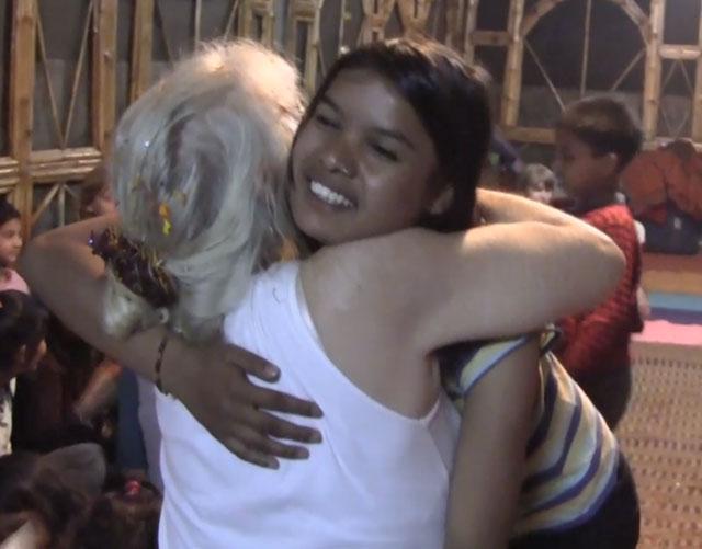 Ramana-garden-hug