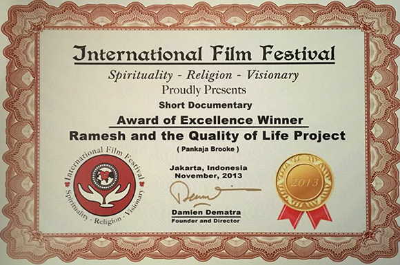 International Film Award for Ramesh and the quality of life