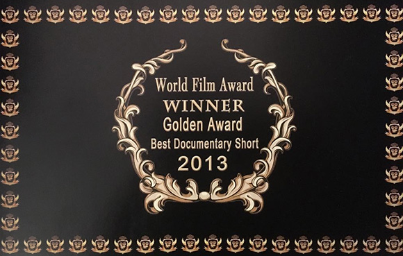 World Film Award Best Documentary Short 2013 from the Spiritual Film Festival, Jakarta