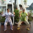 Tai Chi on a boat in Halong Bay