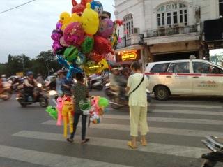 Evening traffic in Hanoi
